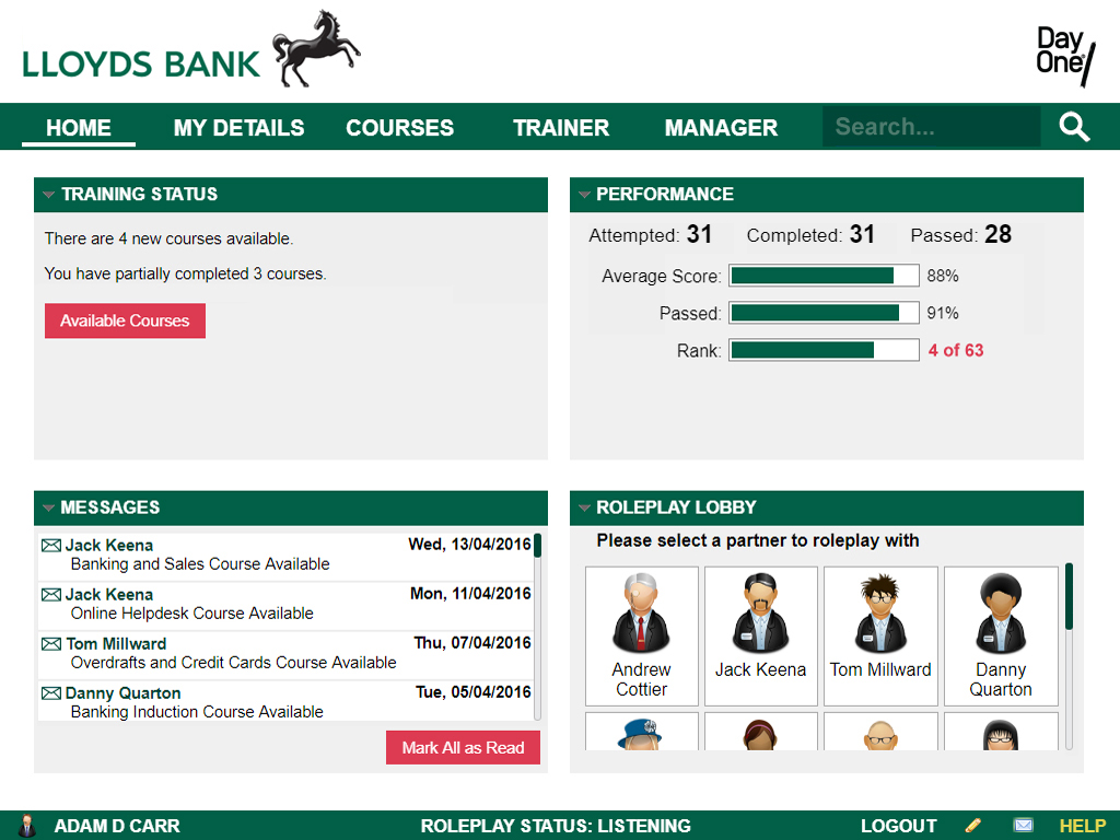 Lloyds Bank LMS for financial services
