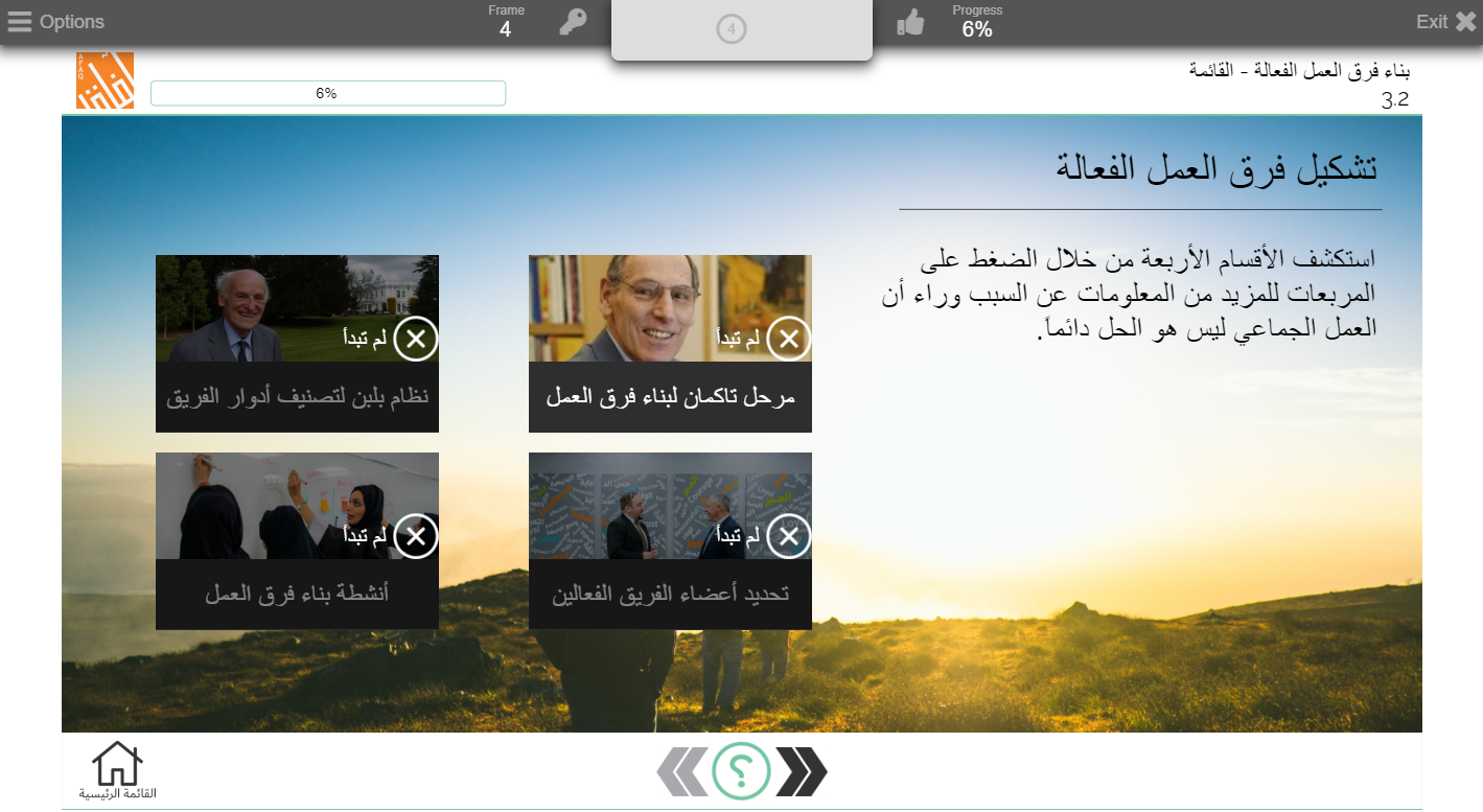 eLearning content in Arabic