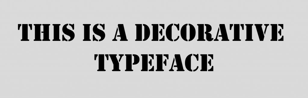Decorative Typeface